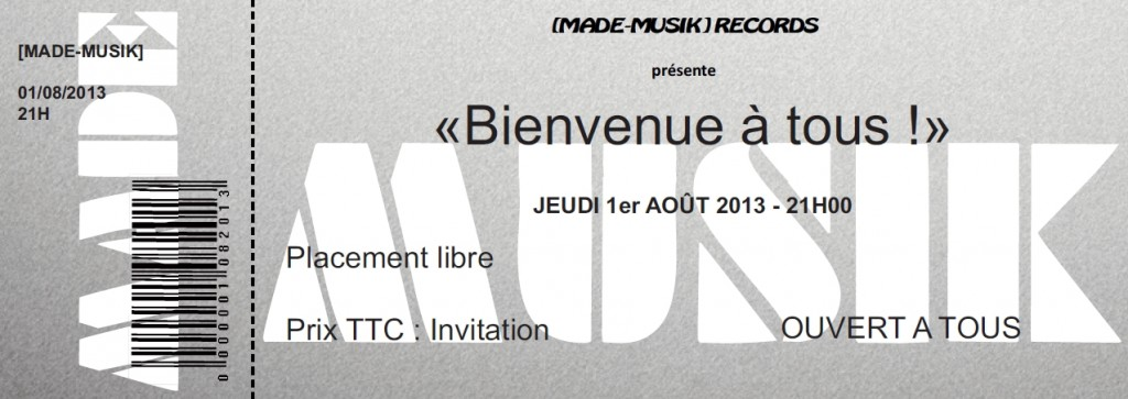 Billet de bienvenue