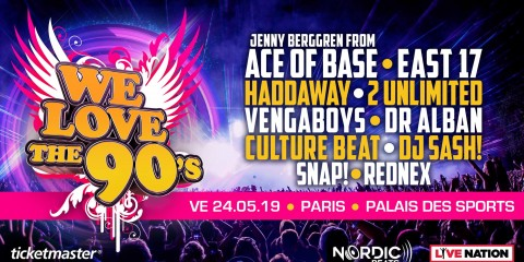 Jenny Berggren de Ace Of Base East 17 Haddaway 2 Unlimited Vengaboys Dr Alban we love the 90's