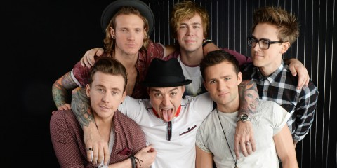 LONDON, ENGLAND - DECEMBER 09:  Tom Fletcher, Danny Jones, Dougie Poynter, Harry Judd, James Bourne and Matt Willis of McBusted pose for portraits to announce their date at Barclaycard presents British Summertime on 6th July in Hyde Park on December 9, 2013 in London, England.  (Photo by Dave J Hogan/Getty Images)