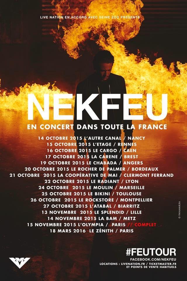 Nekfeu dates tournée