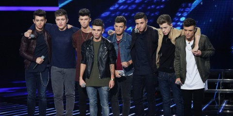 Stereo Kicks seen performing on 'The X Factor' live show, episode 17 of series 11