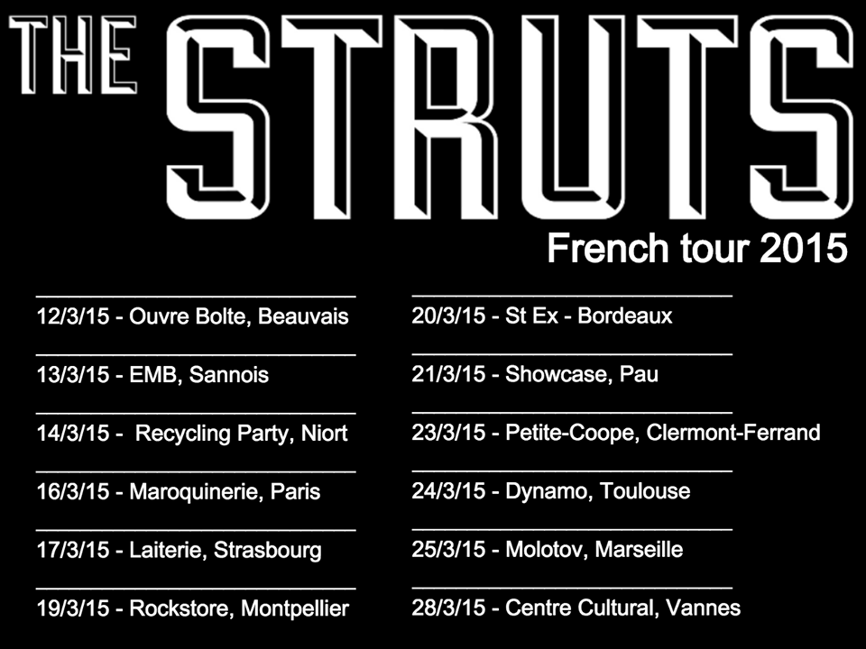 The Struts Tournée France 2015