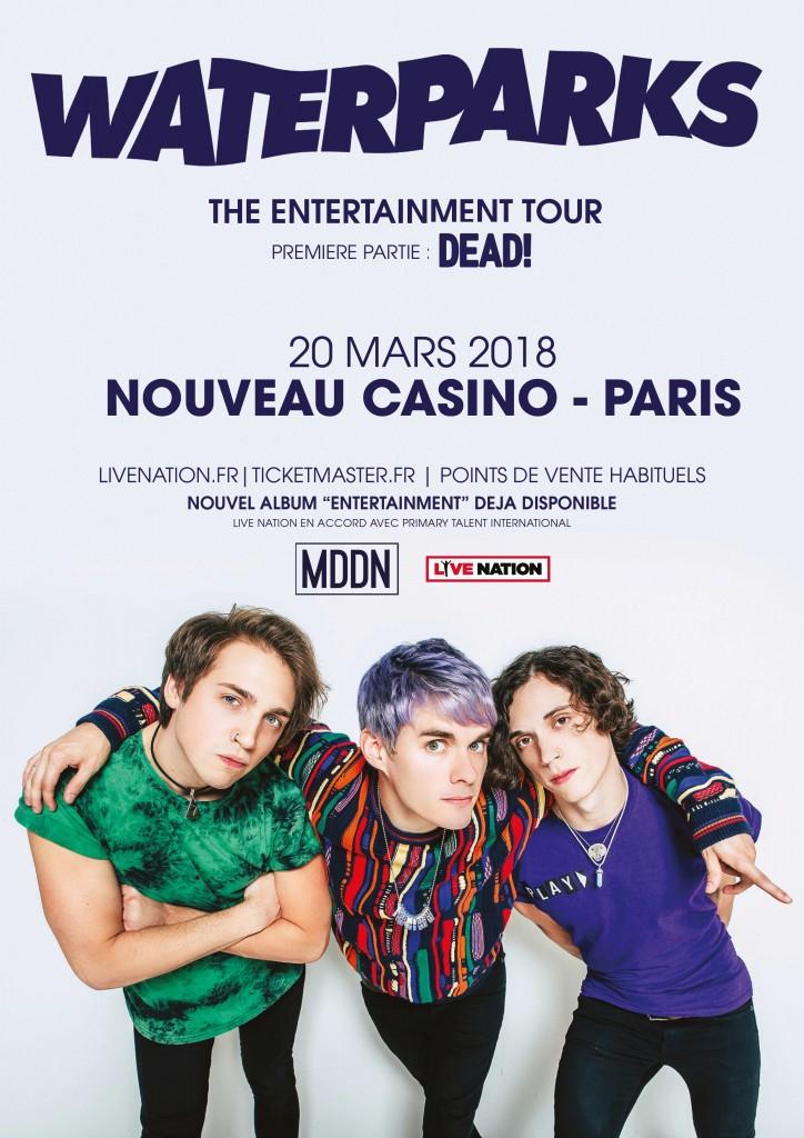 WATERPARKS - Nouveau Casino, 20 mars 2018